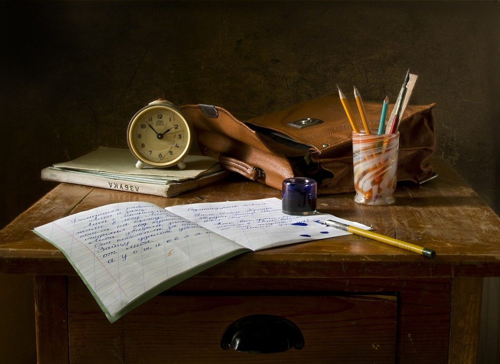 school work, write, still life
